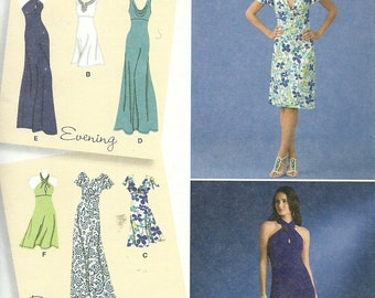 SIMPLICITY 2580, ladies' casual and formal dresses, long and short, sizes 14, 16, 18, 20, and 22, new and uncut