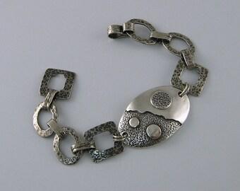 Handmade Sterling Silberarmband, Silber Armband, große Silber Armband, Statement Armband, Herren Armband, Geschenk für Männer, männliche