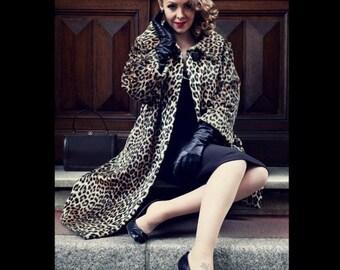 Stunning 1950s Vintage leopard coat