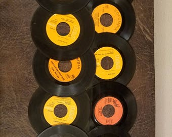 Vintage 45 records lot of 10 Orange labels primarily country music