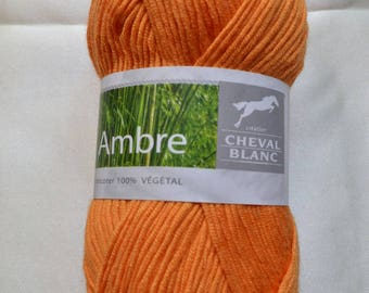 Amber 271 skein orange cotton and bamboo