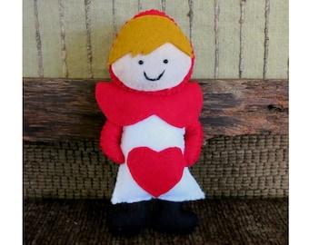 Alice in Wonderland Card Stuffed Toy, Children's Play Soft Toys, Nursery Rhymes, Kids Plushie, Felt Pretend Play