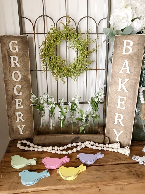 Bakery or Grocery Wood Engraved Sign