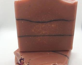 Rose Quartz-Handmade artisan goats milk soap-cold process soap