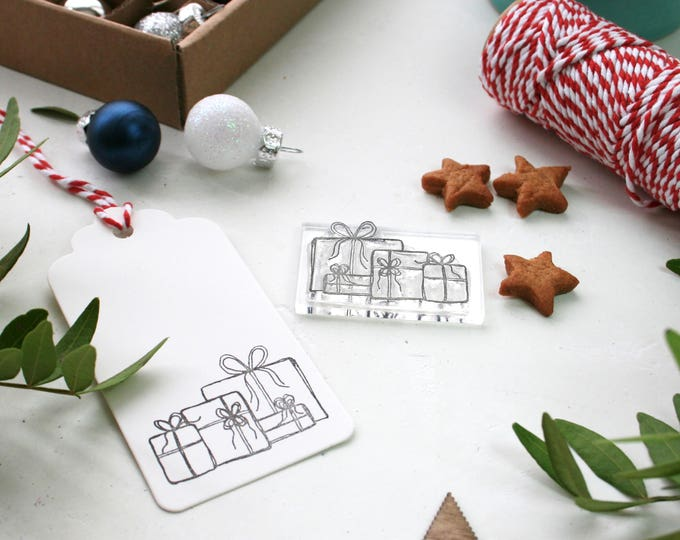 Christmas Presents Clear Stamp - Presents Under the Tree Stamp - Presents Stamp - Gift Stamp - Card Making Stamp - Tag Stamp - Stamp Store