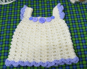 hand crocheted sundress, 3-6 months