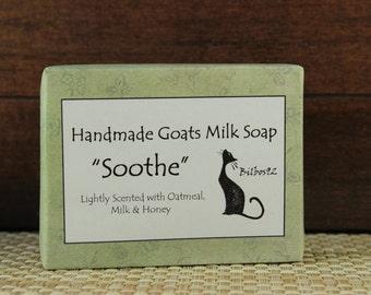 "Goats Milk Soap - ""Soothe"" fragranced with Milk, Honey & Oatmeal"