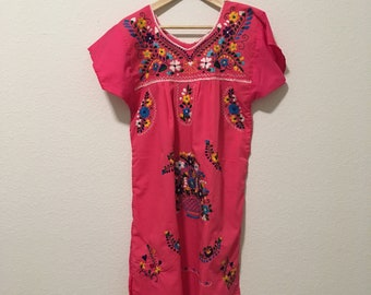 S-M Pink Mexican Dress