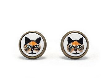 Custom Pet Portrait Earrings Pet Jewelry Custom Animal Jewelry Custom Cat Earrings Custom Dog Earrings Sensitive Earrings Surgical Steel