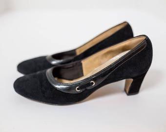 Women's Fanfares Black Vintage Heels Size 7 1/2