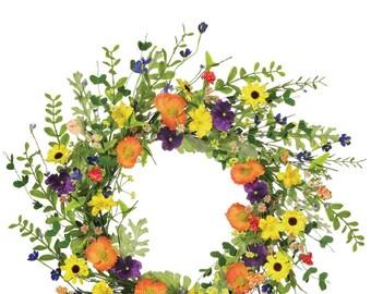"""Wildflower Wreath 20"""""""