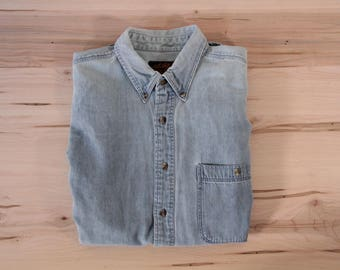 Vintage Eddie Bauer denim men's medium shirt
