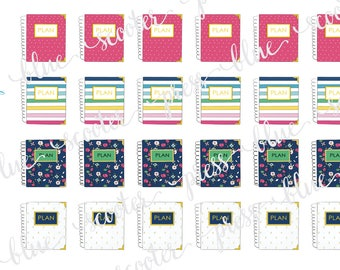 Hand Drawn Emily Ley Simplified Planners Sampler. 24 MATTE Stickers.