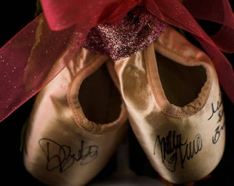 Autographed Pointe Shoe Display