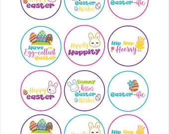 Edible Easter Words Cupcake Cookie Toppers