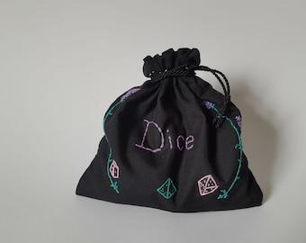 Floral Dice Bag
