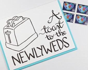 Wedding Card - Funny Wedding Card - Marriage Card - A Toast to the Newlyweds