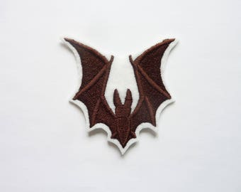 Patch embroidery patch fusible applique bat silhouette