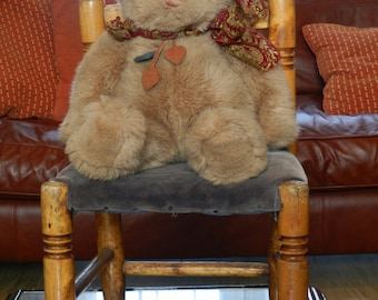 Vintage Teddy Bear GUND Toy Bear Cuddly Collectable Plush Teddy Bear. Christmas Gift For Her. Heirloom Teddy Bear Gift For Granddaughter