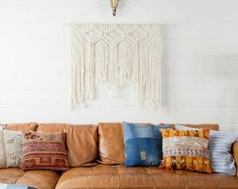 "Large Macramé wall hanging/weaving/tapestry/boho wall art, decor/nursery/wedding backdrop. ""Kate""."