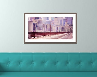 10x20 Minneapolis from the Stone Arch Bridge, Mill City, Downtown, Fine Art Photography Mural