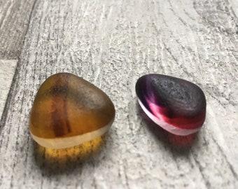 Beautiful Genuine Seaham Sea Glass Multis Pink/Purple/Amber