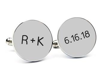 Custom Cufflinks Gift for Groom From Bride Cuff links Personalized Cufflinks Engraved Cufflinks Round Cufflink Gift for Him Anniversary Gift