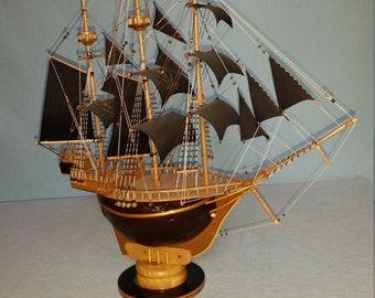 Handmade Wooden Pirate Ship