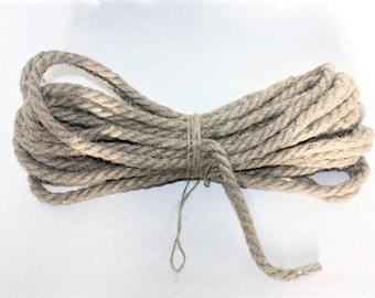 10 mm Linen Rope = 10 Yards = 9 Meters Natural Linen Cord Natural Color Organic Natural Fiber Cord Decorative Rope Rustic Weddings Cord