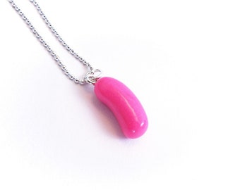 Jelly Bean Necklace, Polymer clay