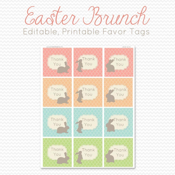Easter party favor tags favor bag label goodie bag tag easter party favor tags favor bag label goodie bag tag easter bunny spring pastel pink aqua editable printable instant negle Gallery