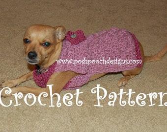 Instant Download Crochet Pattern - Pop Corn Dog Sweater - Small Dog Sweater 2-20 lbs