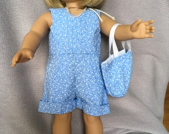 Romper and bag for 18 inch doll