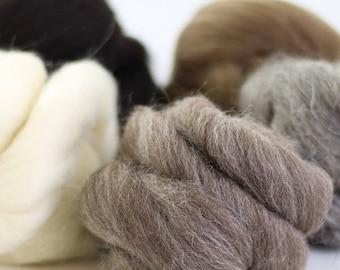 British Wool Bundle no.2, Roving, Wool Roving, Needle Felting, Felting Wool, British Wool, Felting Kit, Roving Wool, Needle Felting Kit
