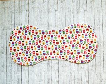 Baby Burp cloth - Baby shower gift - Newborn - PLUS size - Matryoshka doll