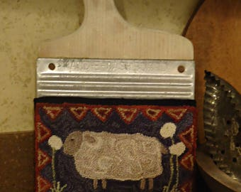 PUNCH NEEDLE Sheep In The Dandelions E-Pattern