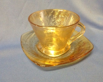 Vintage Floragold Louisa cup and saucer by Jeannette