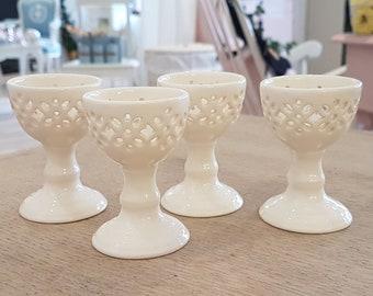 Set of 4 vintage porcelain egg cups