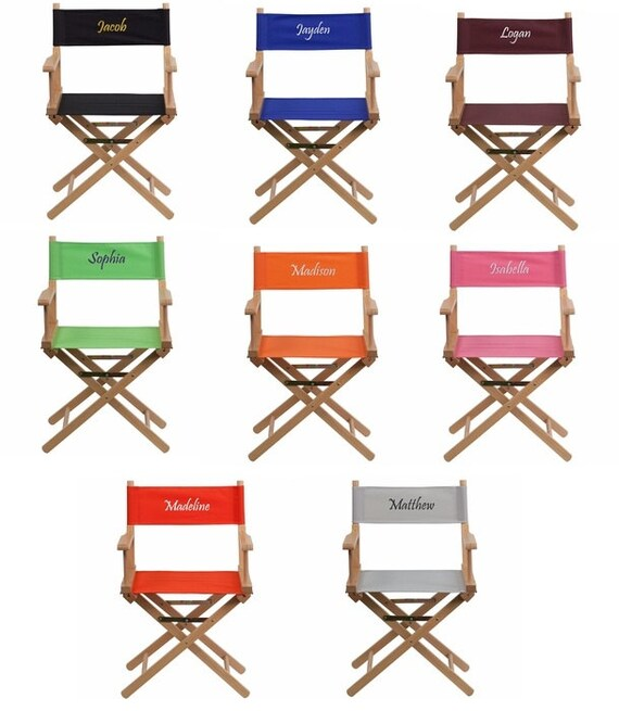 Personalized Adult Directors Chair Standard Height