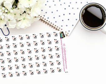 Planner Stickers |Cow Stickers|Cow Icon Stickers| Farm Stickers|Cute Cow Stickers|For use in a wide variety of planners and journals|S016
