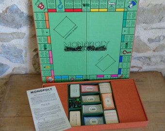 French monopoly board game, vintage 1936 Miro Company of Paris