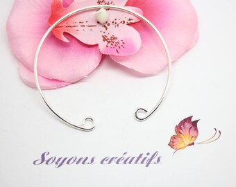1 Bangle bracelet silver open 17.5 cm to personalize - jewelry Creations - SC0081660