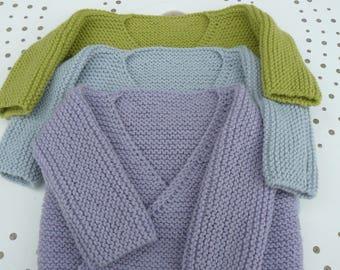 baby size colors wrap vest or jacket