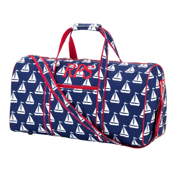 Personalizzed Sail  Duffel Bag, Finn Collection Personalized Bags. Embroidery Duffle Bags