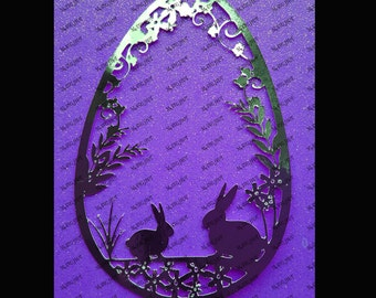 Little Bunny Easter Egg design DIGITAL download