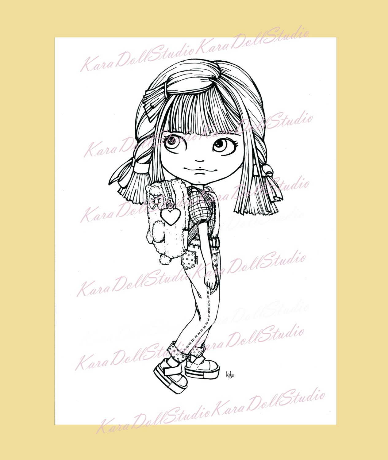 Becky doll childrens stamps coloring blythe dolls dolls stamping this is a digital file altavistaventures Image collections