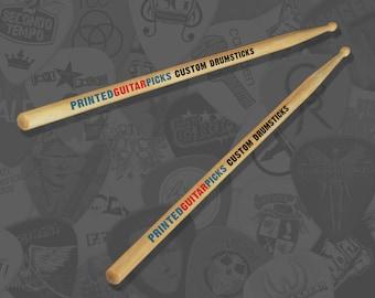Custom Printed Drumsticks Personalised Drum Sticks Drummer Drums 5A Maple Personalised Drumsticks Customised