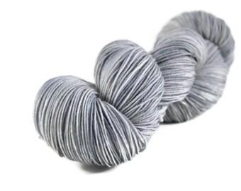Sock Yarn, Merino Nylon sock yarn, fingering weight yarn, wool sock yarn, 75/25 Superwash Merino/Nylon, gray, silver. grey - Dove