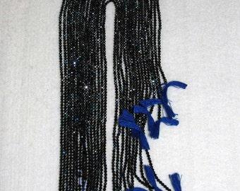 Spinel, Blue Spinel, Blue Spinel Bead, Spinel Faceted Bead, Natural Stone, Semi Precious, Sparkle Bead, Full Strand, 2mm, AdrianasBeads