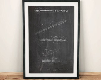Star Wars Light Saber Lucasfilm Patent Art Poster